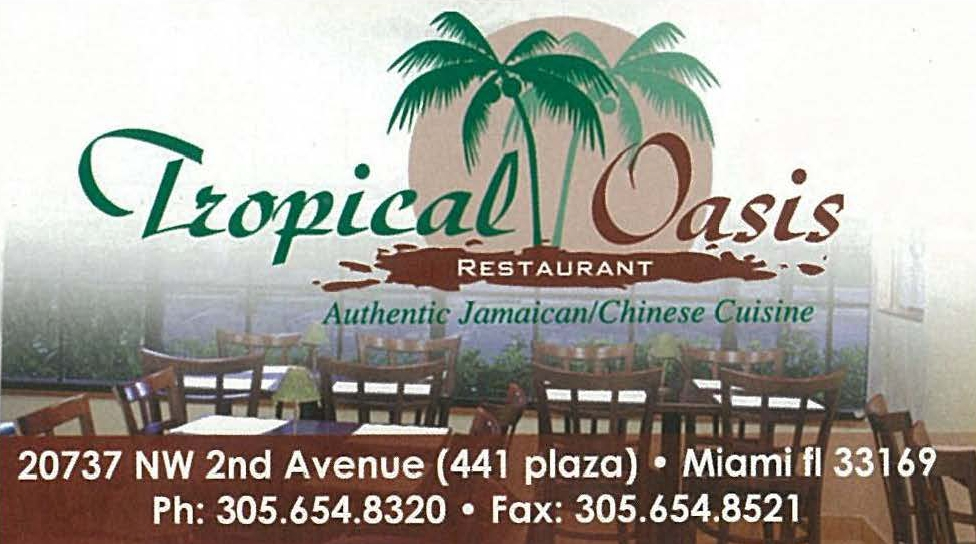 Tropical Oasis Jamaican and Chinese Restaurant - Restaurants in Miami Gardens Florida 33169 - MOPASS