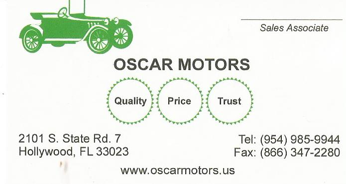Oscar Motors of Hollywood Florida - MOPASS
