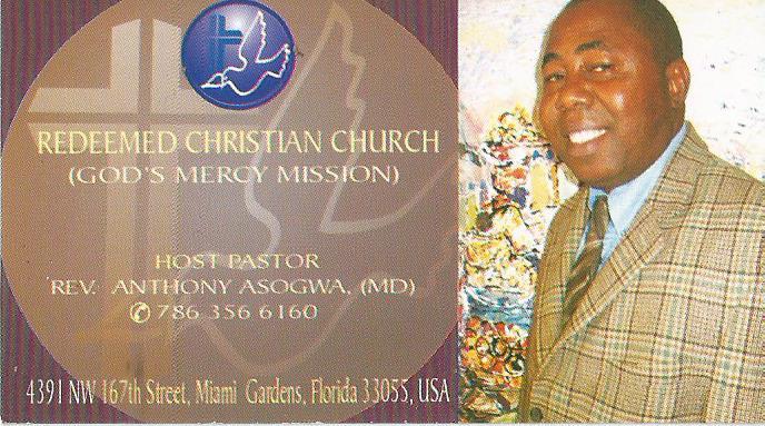 Redeemed Christian Church - Ministry  - MOPASS